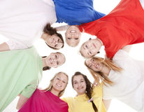 женщины группы молодые стоковые фотографии rf