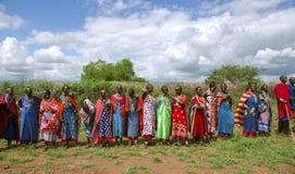 Женщины группы племени Maasai Стоковое Фото