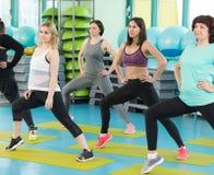 Женщины делая тренировку в спортзале Стоковое Изображение RF
