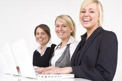 женщины дела счастливые Стоковое Изображение
