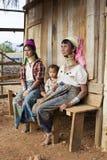 Женщины Длинн-шеи, Мьянма Стоковые Фото