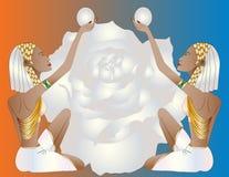 Женщины египтянина дуо иллюстрация штока