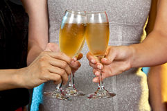 Женщины держа стекла шампанского Стоковые Фотографии RF