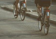 Женщины ехать на велосипедах Стоковое Изображение RF