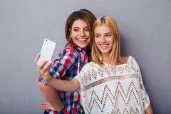 2 женщины делая фото selfie Стоковые Изображения RF