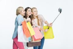 Женщины делая selfie Стоковое Изображение