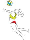 женщины залпа шарика Стоковая Фотография