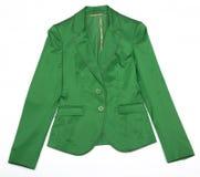 женщины зеленой куртки s Стоковые Изображения