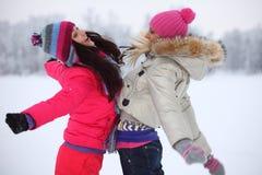 Женщины зимы Стоковые Изображения RF