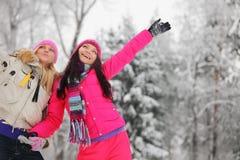 Женщины зимы Стоковая Фотография