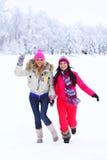 Женщины зимы Стоковое Фото
