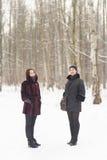2 женщины зимы Стоковое Фото