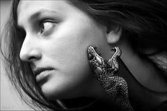 женщины змейки Стоковые Изображения RF