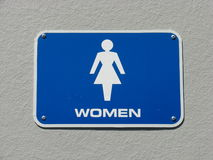 женщины знака уборного стоковое фото rf