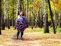 женщины зонтика парка Стоковая Фотография RF