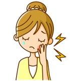 женщины зуба спада Стоковое Изображение RF