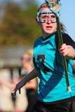 женщины игрока lacrosse Стоковая Фотография