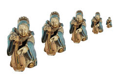 женщины игры нот figurine стоковая фотография rf