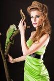 женщины игуаны Стоковая Фотография RF