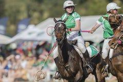 Женщины Ирландия лошадей кубка мира PoloCrosse Стоковое Изображение RF