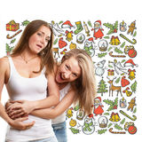 Женщины ища подарки рождества Стоковое Изображение RF
