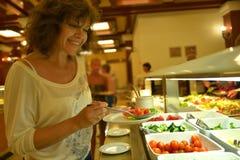 Женщины и еда Стоковое Фото