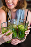 Женщины или коллеги в кафе, адвокатском сословии или ресторане Стоковое Фото