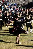 Женщины и люди в традиционном фестивале Raymi Inti костюмов Inca Стоковая Фотография