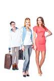 2 женщины и портер багажа Стоковое фото RF
