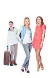 2 женщины и портер багажа Стоковые Изображения RF