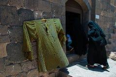 Женщины и ребенок в Йемене Стоковые Фото