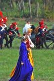 2 женщины и солдата-reenactors Стоковое Изображение RF