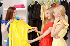 Женщины идут ходить по магазинам совместно Стоковые Фотографии RF