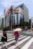 Женщины идя в Ginza, токио Стоковое Изображение