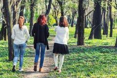 3 женщины идя прочь Стоковые Фотографии RF