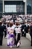 женщины кимоно наступающего дня времени молодые Стоковые Фотографии RF