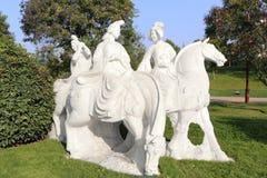 Женщины конноспортивная статуя тяни, саман rgb Стоковое Фото