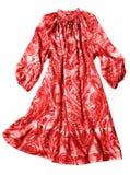 женщины красного цвета платья стоковое фото
