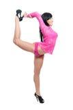 женщины красного цвета танцора клуба Стоковые Фото