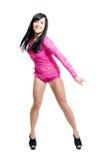 женщины красного цвета танцора клуба Стоковое Фото
