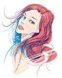Женщины красоты Стоковое Изображение RF