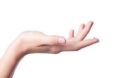 женщины лосьона руки стоковое фото