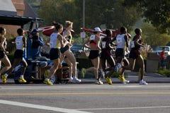 женщины марафона la профессиональные Стоковое Фото
