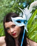 женщины маски молодые Стоковые Фото