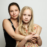 2 женщины мать и дочь Стоковые Фото