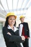 женщины места конструкции архитекторов милые Стоковое Фото