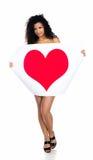 женщины милого сердца красные молодые Стоковая Фотография