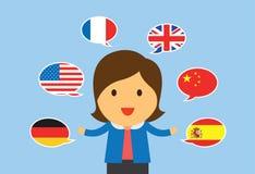 Женщины многоязычные Стоковое фото RF