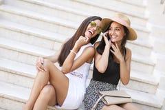 Женщины на лестницах Стоковое фото RF