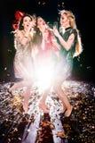 3 женщины на партии Стоковая Фотография RF